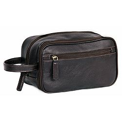 Ashwood Brown Leather Washbag