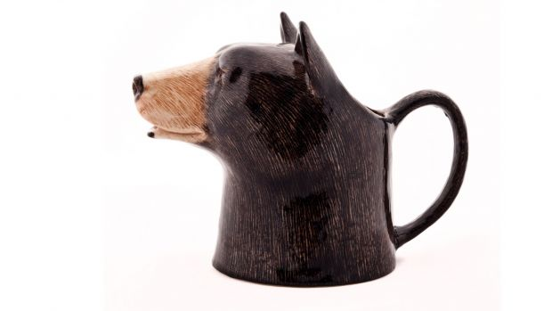 Quail Black Bear Jug Small