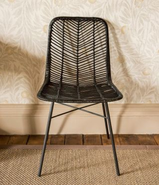 Windermere Bamboo Chair Black