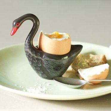 Hannah Turner Swan Egg Cup Black