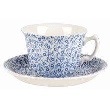 Burleigh Felicity Blue Cup & Saucer