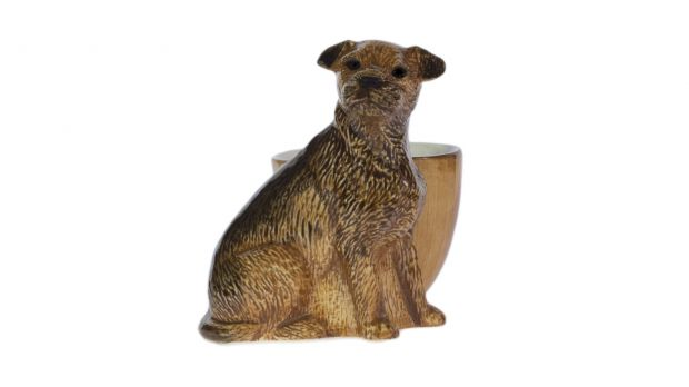 Quail Border Terrier Egg Cup