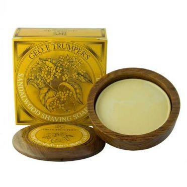 Geo. F. Trumpers Sandalwood Shaving Soap in Wooden Bowl