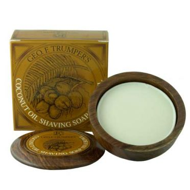 Geo. F. Trumper Coconut Oil Shaving Soap in Bowl