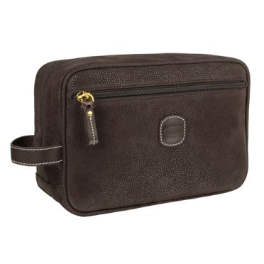 Bric's Magellano Wash Bag Black and Brown