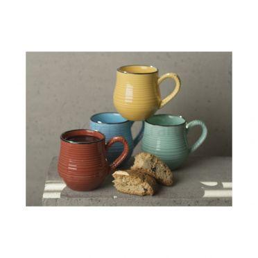 Bright Colour Espresso Mugs Set of 4