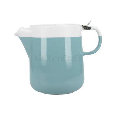 La Cafetiere Barcelona Teapot 1200ml - Retro Blue