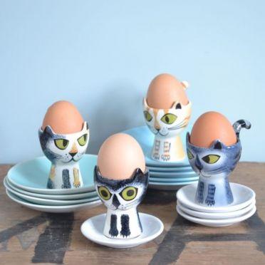 Hannah Turner Cat Egg Cup