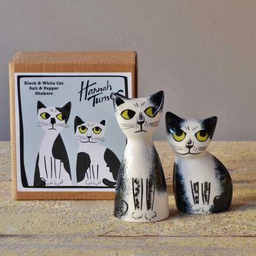 Hannah Turner Salt and Pepper Cat Black & White