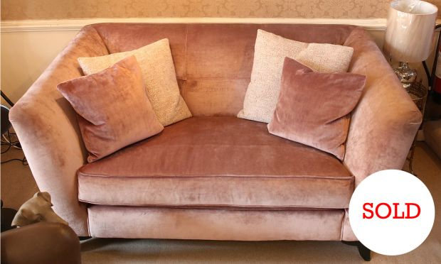 Claire Velvet Small Sofa