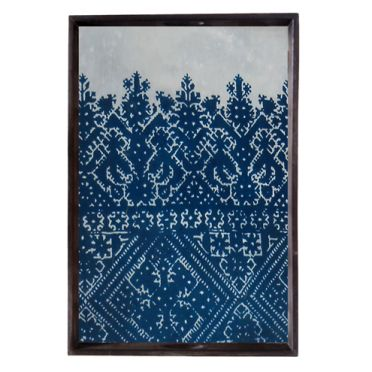 Black Cross Stitch Mirror Tray