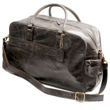 Drift Leather Weekend Bag Colour Fudge