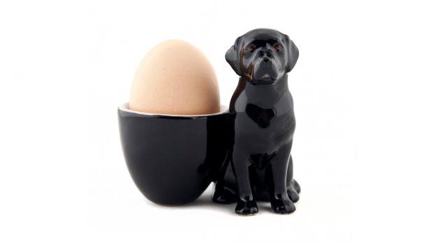 Quail Black Labrador Egg Cup