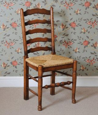 English Oak Ladder Back Chair