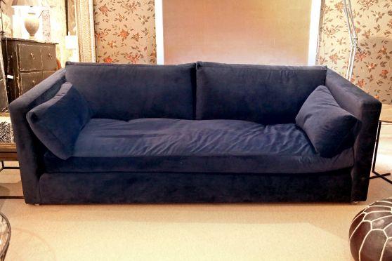 Moss Midnight Velvet Sofa