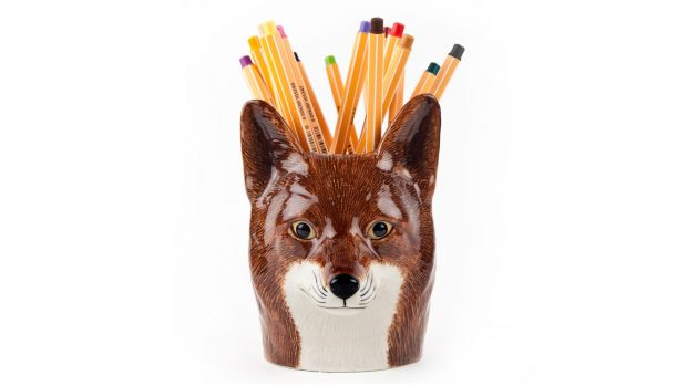 Quail Fox Pencil Pot