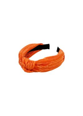 Orange Ribbed Headband
