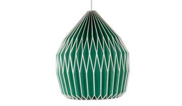 Paper Pendant Lampshade - Green