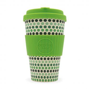 Green Polka - Ecoffee Cup