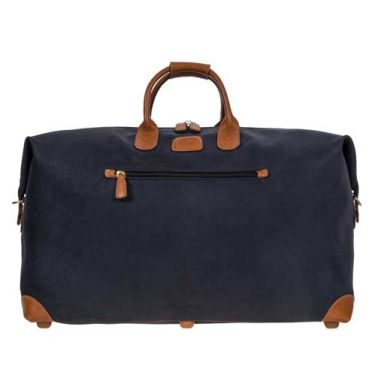 Bric's Holdall Clipper Large Blue/Tan