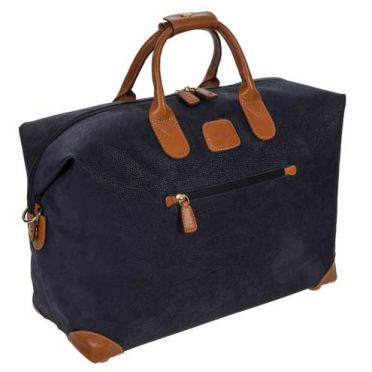Bric's Holdall Clipper Small Blue/Tan