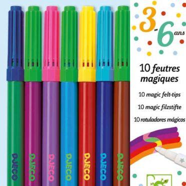 Set of 10 Magic Felt Tip Pens