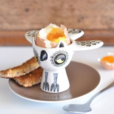 Hannah Turner Owl Egg Cup Yellow