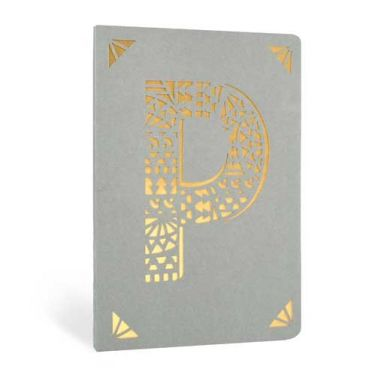 Monogram Gold Foil Notebook - P