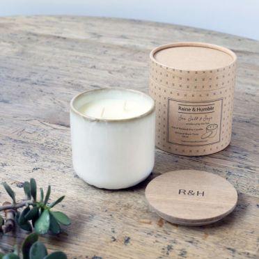 Sea Salt & Sage Scented Soy Candle