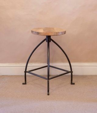 Oak Screw Stool