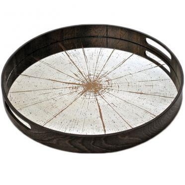 Slice Light Aged Mirror Tray