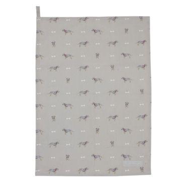 Sophie Allport Tea Towel -Terrier