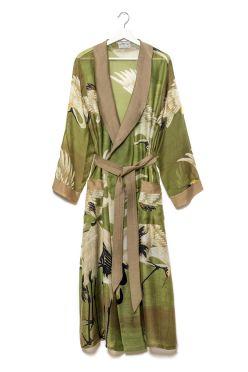 Silk Stork Green Gown