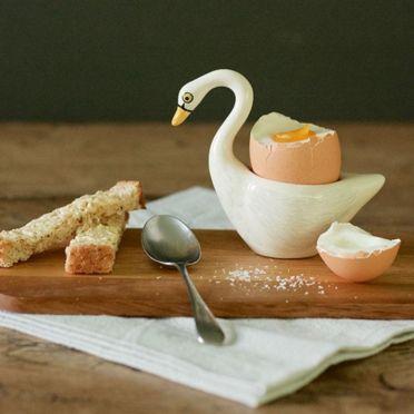Hannah Turner Swan Egg Cup White