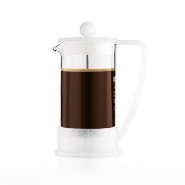 Brazil Coffee Presser- 3 cups White