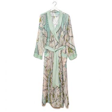 Silk Venice Print Gown