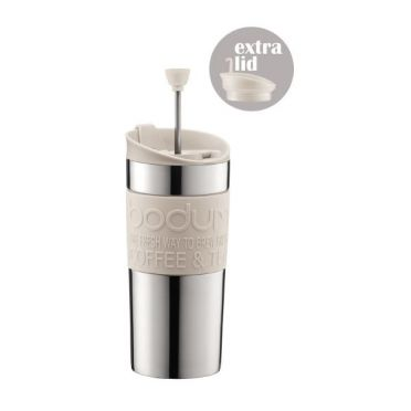 Travel Press Coffee Cup - White