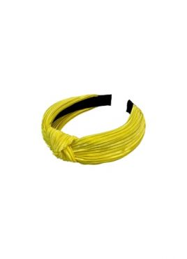 Yellow Ribbed Headband