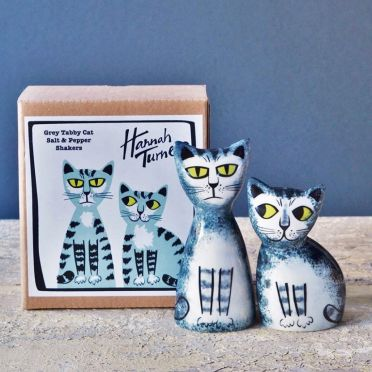 Hannah Turner Salt and Pepper Cat Grey