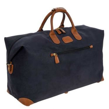 Bric's Holdall Clipper Medium Blue/Tan