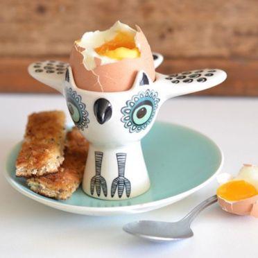 Hannah Turner Owl Egg Cup Green