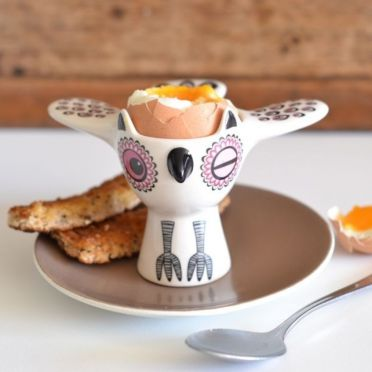 Hannah Turner Owl Egg Cup Pink
