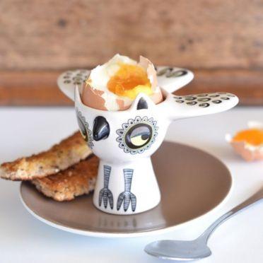 Hannah Turner Owl Egg Cup Yellow
