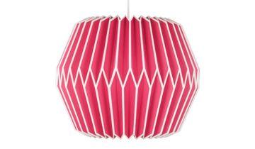 Paper Pendant Lampshade - Pink