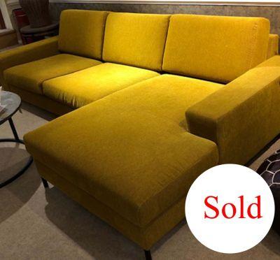 Quattro Chord Mustard Corner Sofa with Chaise