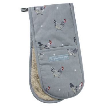 Sophie Allport Double Oven Glove - Chickens